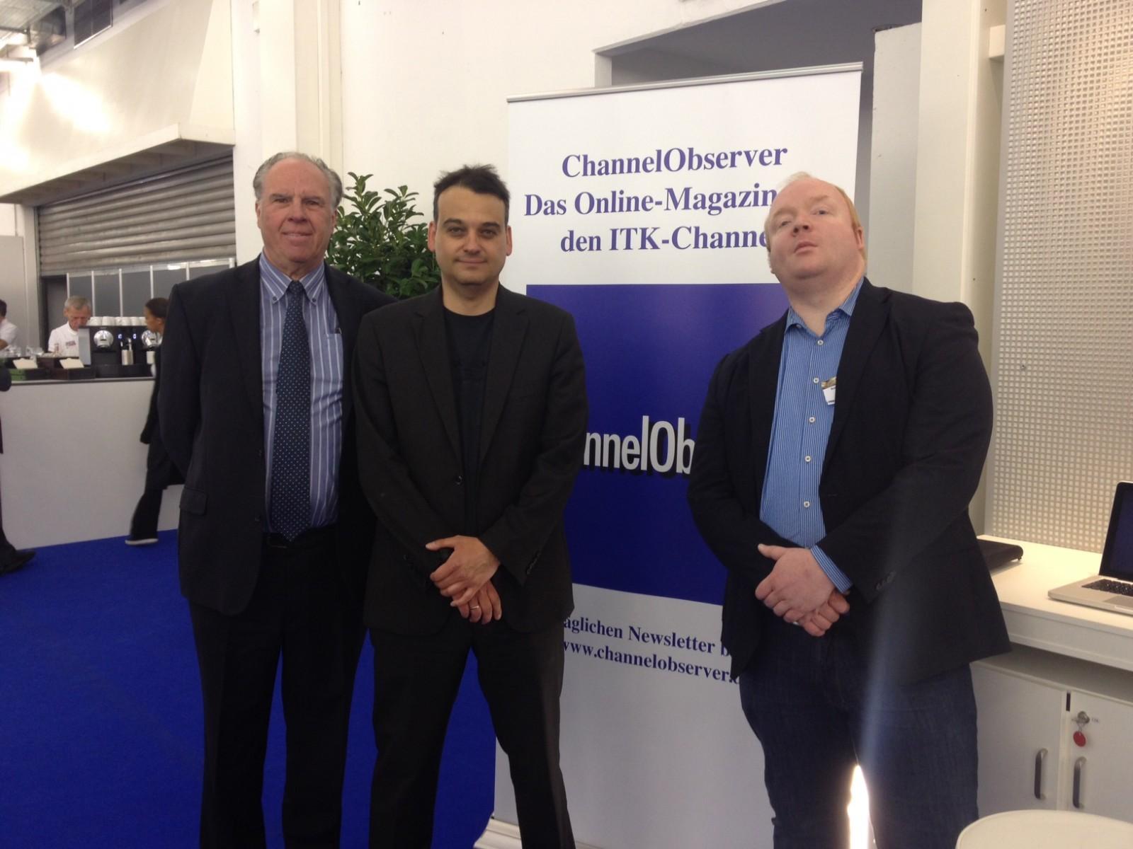 Das ChannelObserver-Team auf der IM.TOP: Dieter Schobel, Markus Reuter und Robert Höwelkröger (v.l.n.r.)