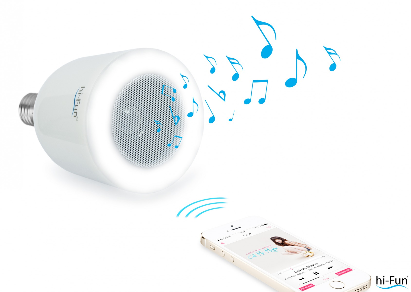 Glühlampe und Lautsprecherin einem: hi-Led, der Stereo-Lautsprecher in Form einerGlühlampe, erzeugt Licht und überträgtMusik. Die Songs können vomSmartphone, MP3-Player oder Computer per Bluetooth auf den integriertenLautsprecher übertragen und abgespielt werden. hi-Led kommt sowohl im eigenen Heimgut an, aber auch als besonderer Geschenkartikel für guteGeschäftspartner. Einfachdie Glühbirne derWohnzimmerstehlampe austauschen und die dezente Klangquelleist installiert. Das Produkt ist zum UVP von 49,99 Euro erhältlich.