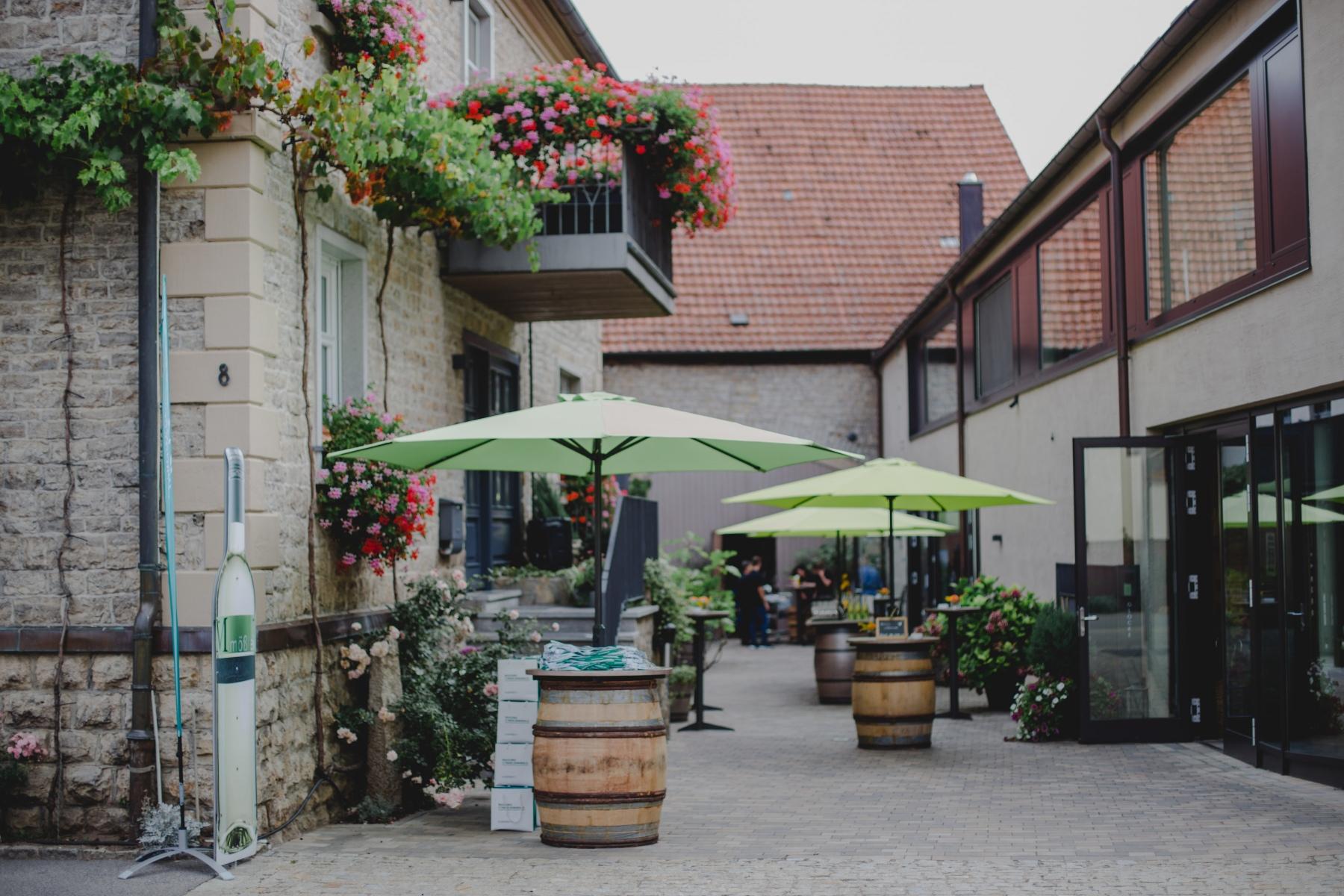 Das Weingut Mößlein freute sich auf den Besuch von 60 Kaspersky Partnern aus ganz Deutschland.