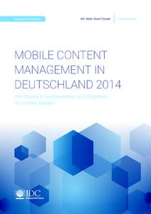 Mobile Content Management in Deutschland 2014