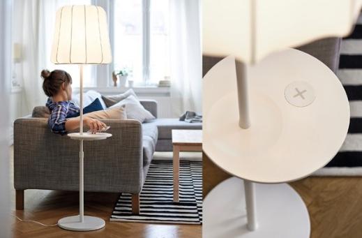 Ikea baut drahtlose Ladestationen in Möbel ein