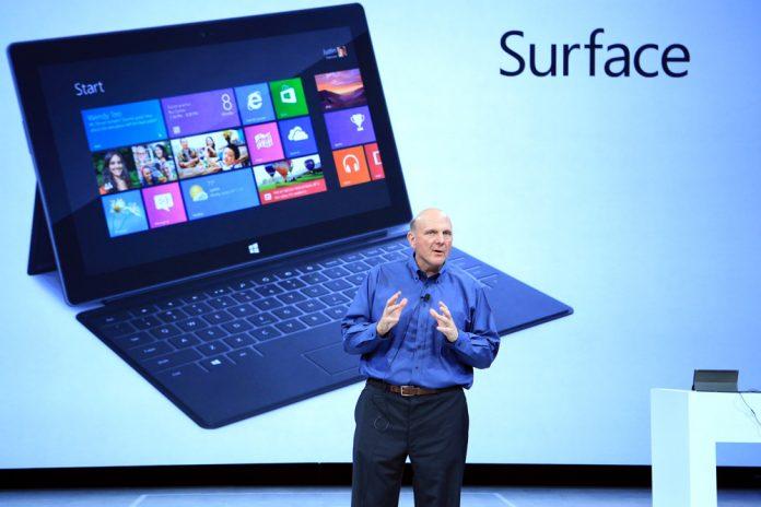 Microsoft-CEO Ballmer und sein Surface: Exklusive Vertriebsstrategie